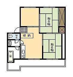 小村アパート[202号室]の間取り