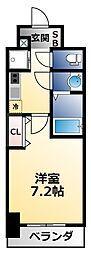 Osaka Metro御堂筋線 昭和町駅 徒歩3分の賃貸マンション 10階1Kの間取り