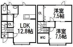 [テラスハウス] 北海道札幌市西区西町南20丁目 の賃貸【北海道 / 札幌市西区】の間取り