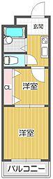 若江岩田駅徒歩6分 若江岩田CT・スクエア[111号室]の間取り