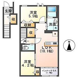 (仮称)茂原市早野新築アパート[201号室]の間取り