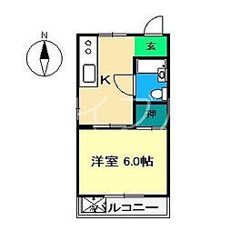 黒潮マンション[3階]の間取り