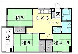 [テラスハウス] 愛媛県松山市空港通6丁目 の賃貸【愛媛県 / 松山市】の間取り