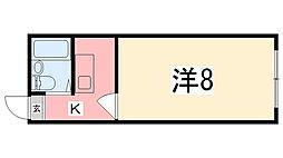 アドバンスビル[4-E号室]の間取り