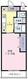 静岡県磐田市中泉の賃貸マンションの間取り