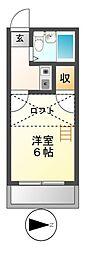 愛知県名古屋市中川区中郷1丁目の賃貸アパートの間取り