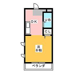 FIRST尼ヶ坂[4階]の間取り