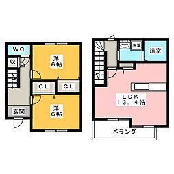 [テラスハウス] 愛知県名古屋市中川区東起町4 の賃貸【/】の間取り
