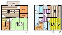 [テラスハウス] 埼玉県川越市寺尾 の賃貸【/】の間取り