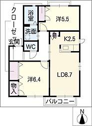 スマイル A棟[2階]の間取り