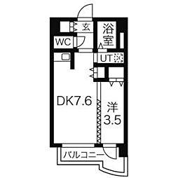 北海道札幌市中央区南5条東3丁目の賃貸マンションの間取り