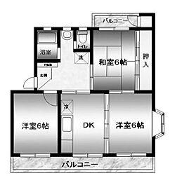 ハイツ広田[301号室]の間取り