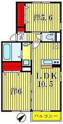 カーサグランデ南川崎[1階]の間取り