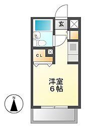 メゾン・ド・タンプル[1階]の間取り
