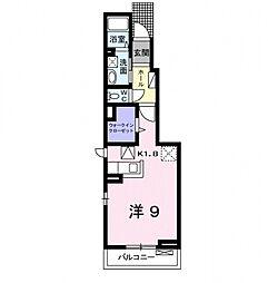 神奈川県小田原市上新田の賃貸アパートの間取り