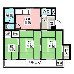 マンションT・U[2階]の間取り