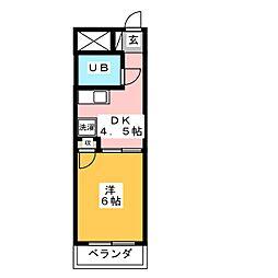 キャッスルシティ城崎I[3階]の間取り