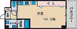 大阪モノレール本線 山田駅 徒歩10分の賃貸マンション 6階ワンルームの間取り