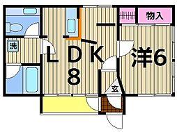 東京都足立区本木2丁目の賃貸マンションの間取り
