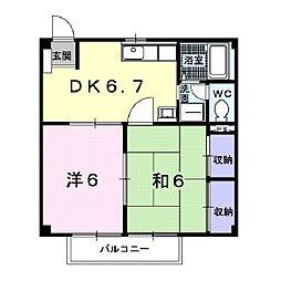 メゾンタカダ[2階]の間取り