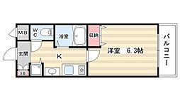 プレサンス京都三条大橋雅殿[4階]の間取り