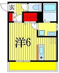 オーラブリエ[1階]の間取り