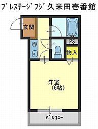 プレステージフジ久米田壱番館[1階]の間取り