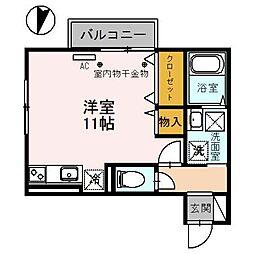 富山県富山市向新庄町3丁目の賃貸アパートの間取り