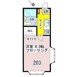 フォレスタ2番館[203号室]の間取り