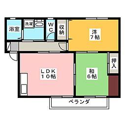 セジュール申子[1階]の間取り