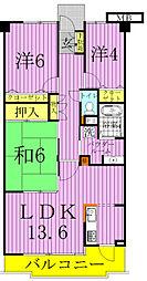エスポワール暁マンション[5階]の間取り