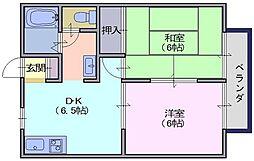 サンガーデン桐木B[201号室]の間取り