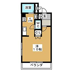 Park Asai[3階]の間取り