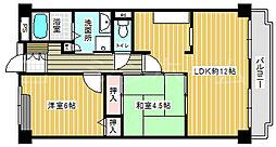ハイネス諏訪ノ森[3階]の間取り