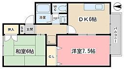 蒼terrace小野[101号室]の間取り