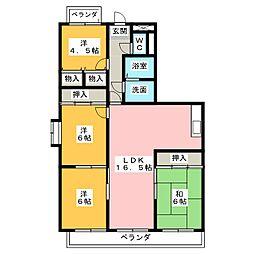 エレガンスマインIII[4階]の間取り