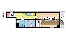 兵庫県神戸市中央区大日通7丁目の賃貸マンションの間取り