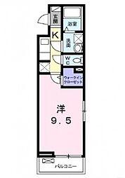 Osaka Metro千日前線 今里駅 徒歩10分の賃貸アパート 3階1Kの間取り
