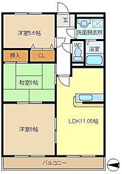 第2エステートシライシ 205[2階]の間取り