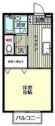 セジュールMAI[207号室]の間取り