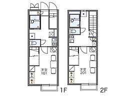 レオパレス折立[1階]の間取り