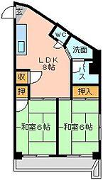 三萩野ビル[4階]の間取り