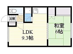 北海道札幌市西区山の手2条5丁目の賃貸アパートの間取り