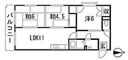 コーポラス大町I[2階]の間取り