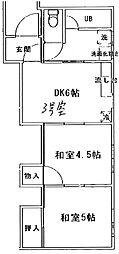 小山荘[2号室]の間取り
