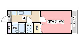 クレール山陵[303号室]の間取り