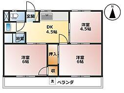 CASA 大垣[2階]の間取り