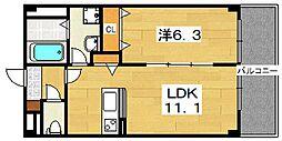アンプルールフェール[2階]の間取り