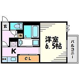 GRANDTIC DAVA今津[2階]の間取り