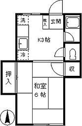 定山荘[207号室]の間取り